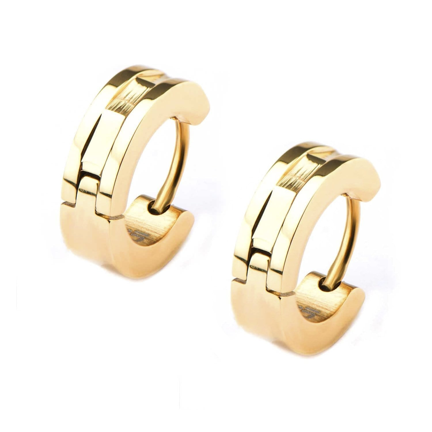 Gold Stainless Steel 4mm Industrial Cut Bali