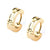 GLD STL IP  HUGGIE EARRINGS