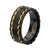 Gold & Black Stainless Steel Glossy Outlined Spinner Ring - Inox Jewelry India