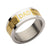 Gold & Silver Stainless Steel Engraved DAD Patterned Band Rings