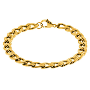 Gold Stainless Steel 5.6mm Curb Chain Bracelet Bracelets