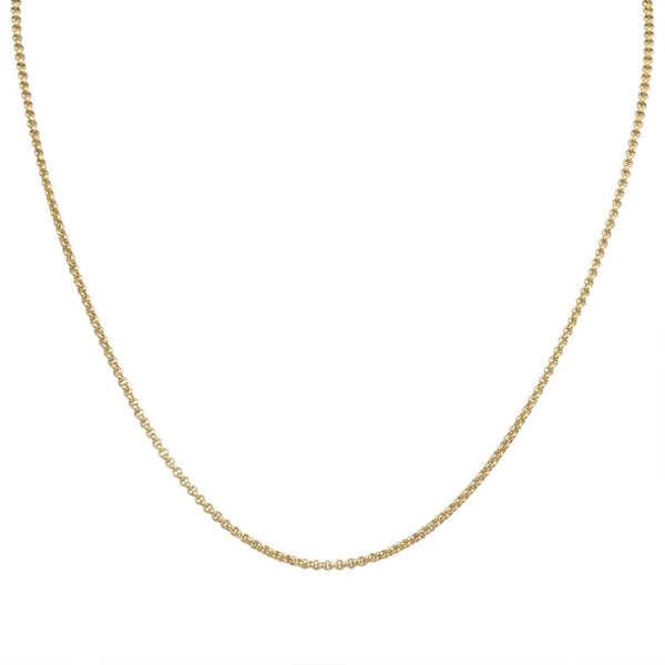 Gold Stainless Steel Polished 2mm Rolo Link Chain Chains