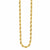 Gold Stainless Steel Polished 3.7mm French Rope Chain Chains