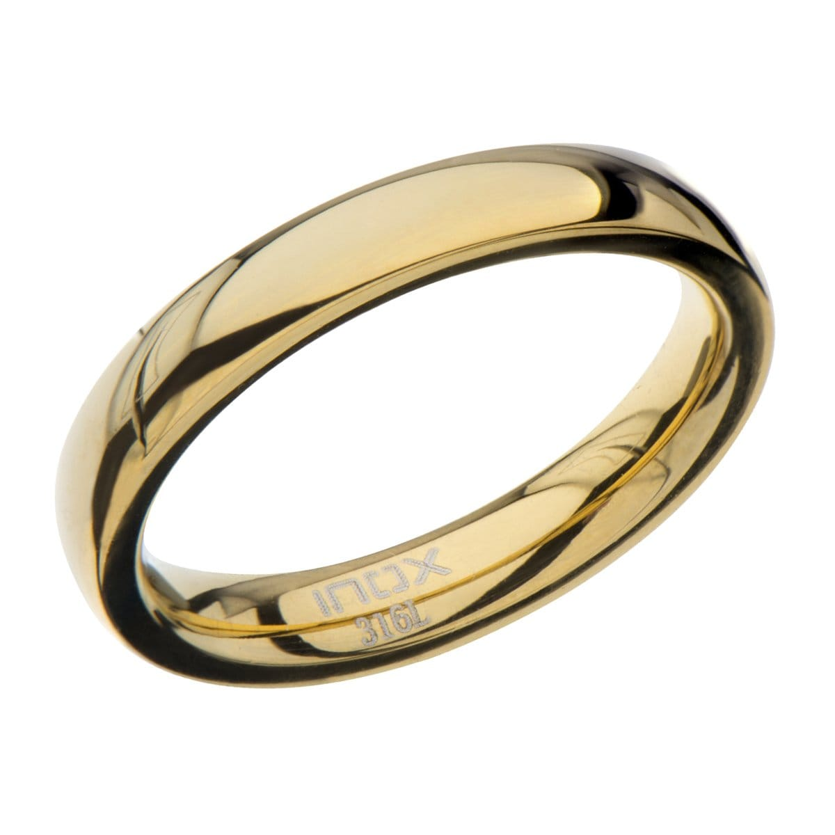 Gold Stainless Steel Polished 3mm Band