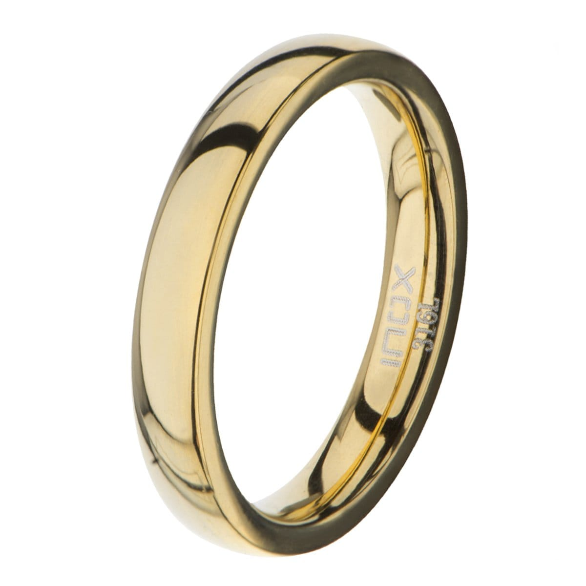 Gold Stainless Steel Polished 3mm Band Rings