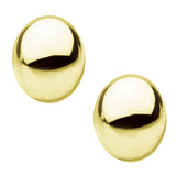 Gold Stainless Steel Small Oval Dome Studs