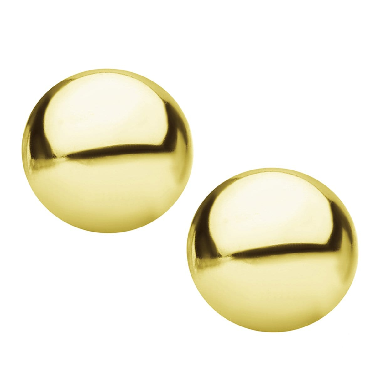 Gold Stainless Steel Small Round Dome Studs Earrings