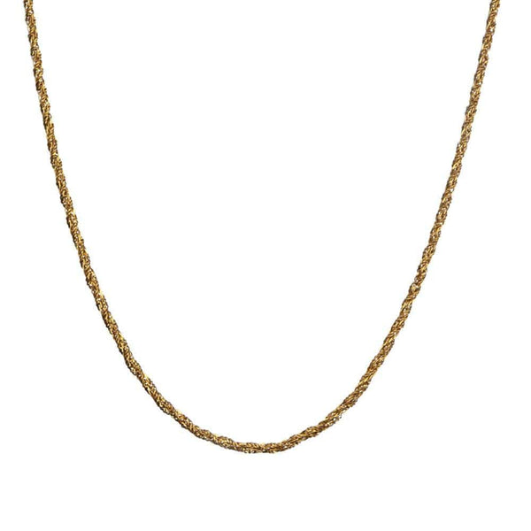 Gold Stainless Steel Twisted Rope Chain Chains