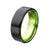 GREEN STL FLAT IP BLACK RING10