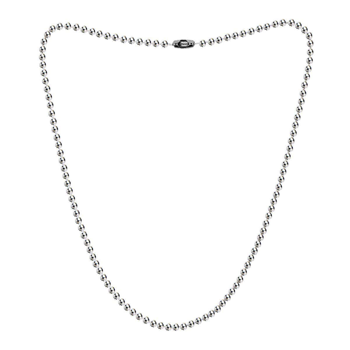 Silver Stainless Steel 2mm Ball Chain