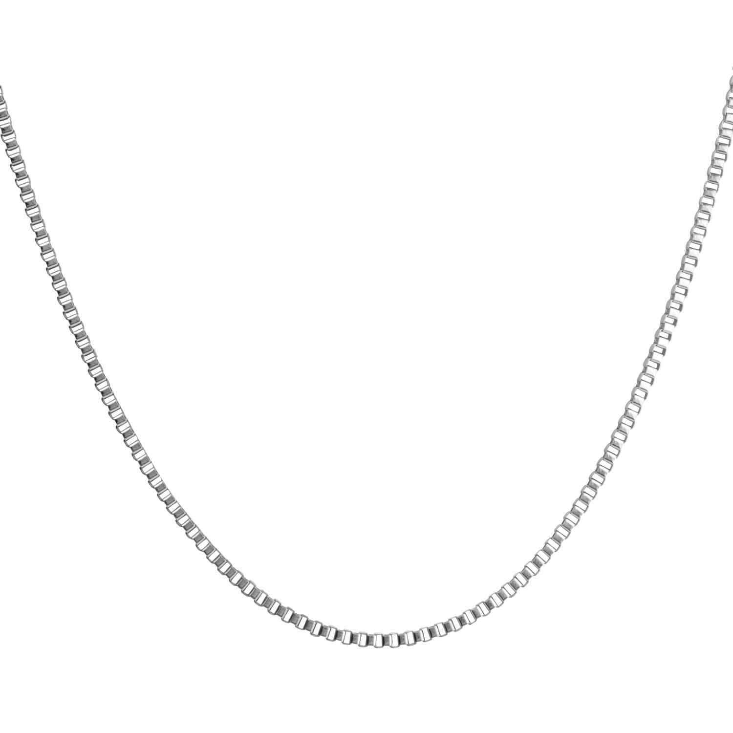Silver Stainless Steel 3mm Venetian Box Link Chain