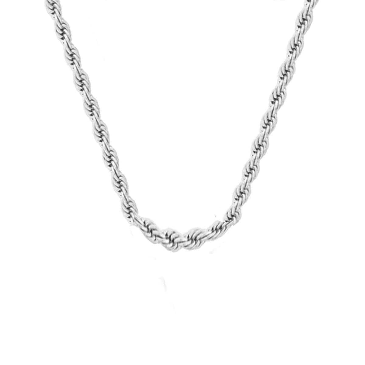 Silver Stainless Steel 5mm French Rope Chain