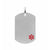 Red & Silver Stainless Steel Engraveable Medical ID Pendant & Chain Pendants