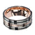 Rose Gold, Black & Silver Stainless Steel Sleek Block Band - Inox Jewelry India