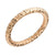 Rose Gold Stainless Steel 2.5mm Hammered Wedding Band Rings