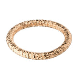 Rose Gold Stainless Steel 2.5mm Hammered Wedding Band