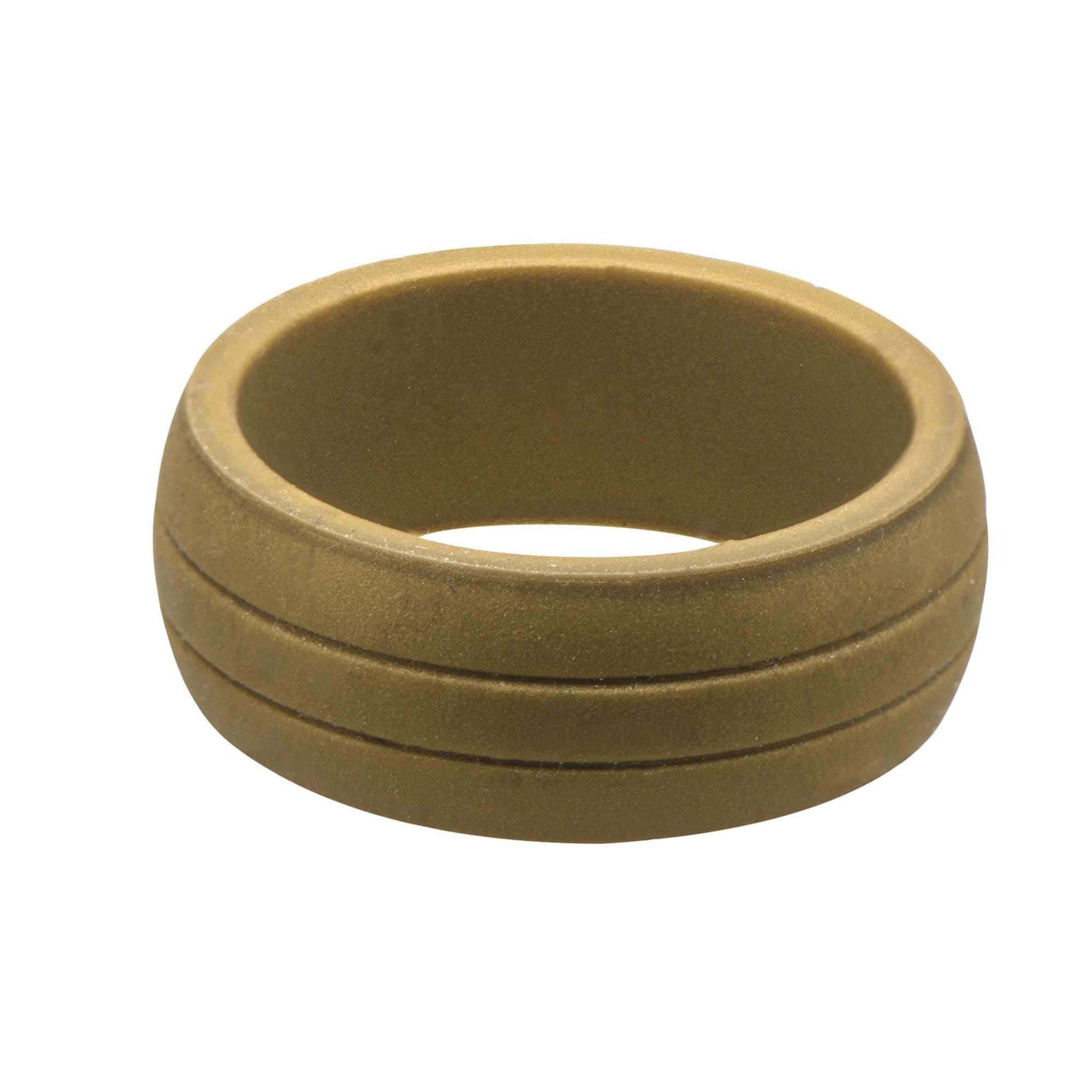 Tan Silicone 9mm Double Lined Safety Band Ring