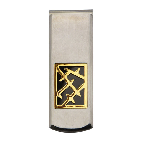 Silver, Gold & Black Stainless Steel Crown of Thorns Money Clip Accessories