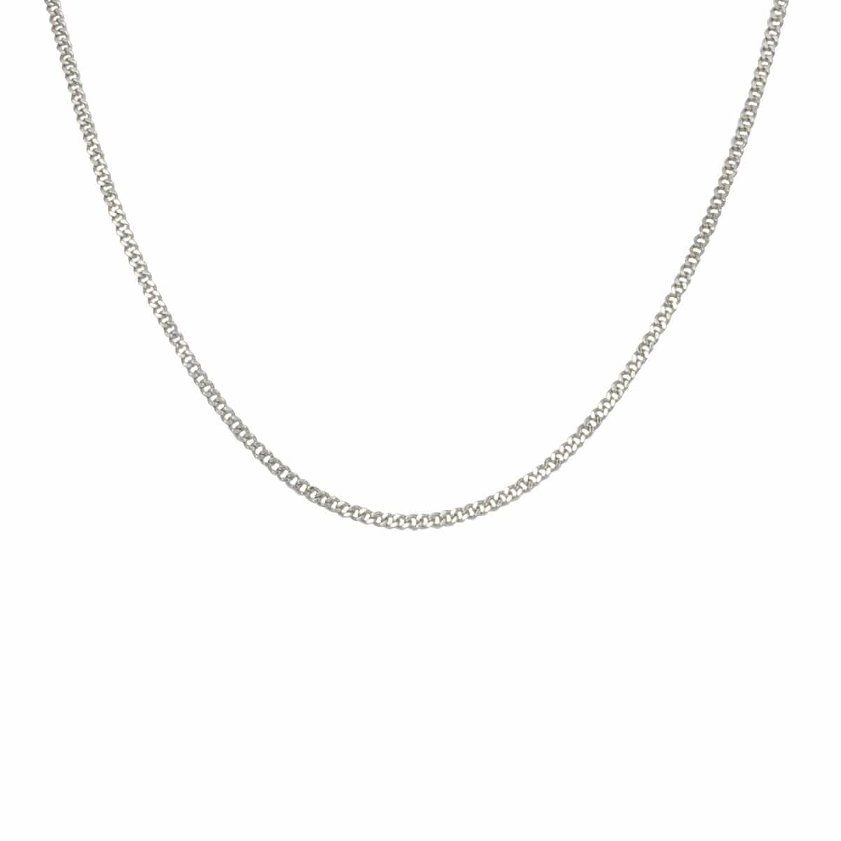 Silver Stainless Steel 2mm Two-Face Diamond Cut Design Chain