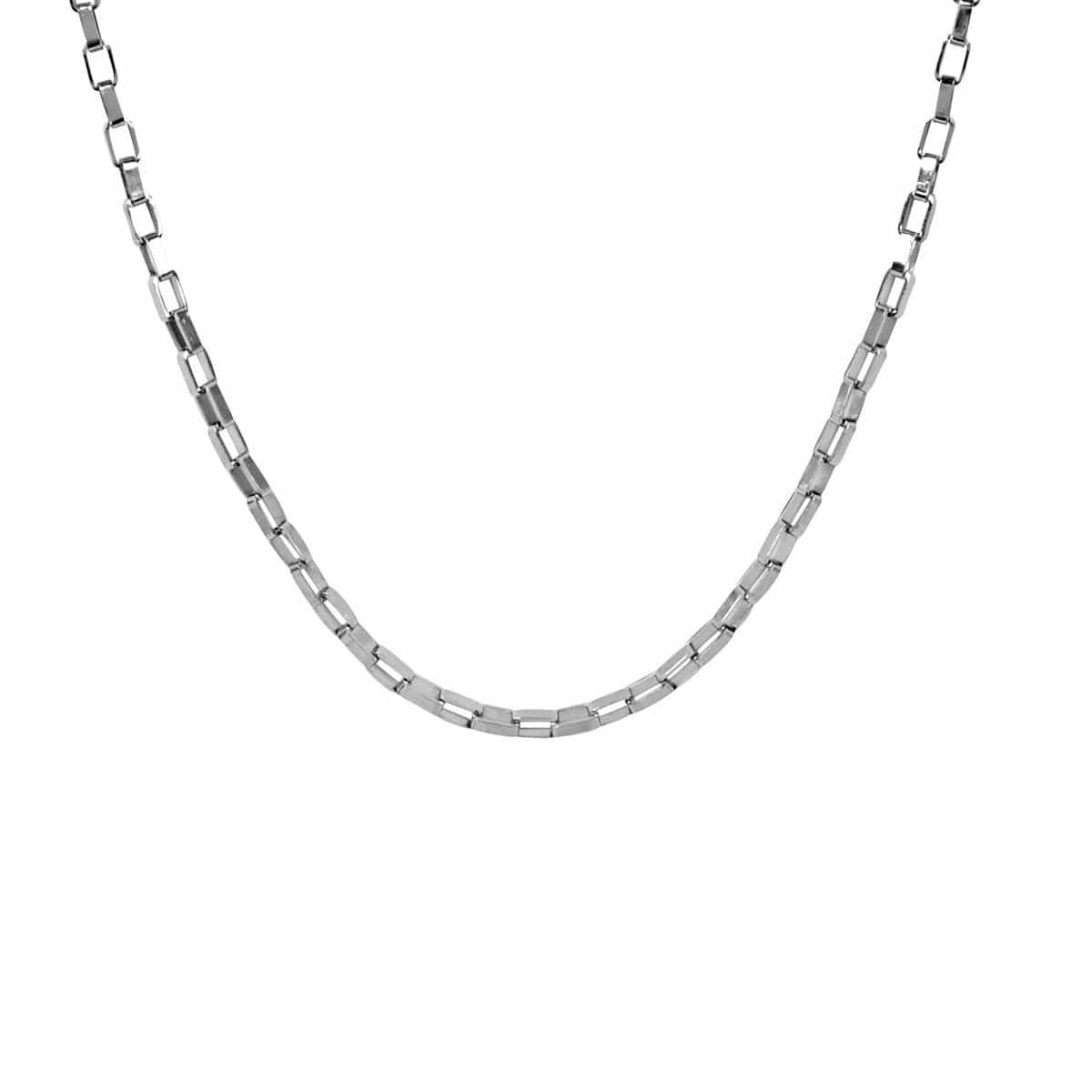 Silver Stainless Steel 3 mm Reflection Box Link Chain Chains