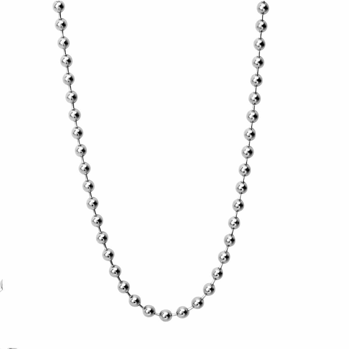 Silver Stainless Steel 3mm Ball Chain with Lobster-Claw Closure Chains