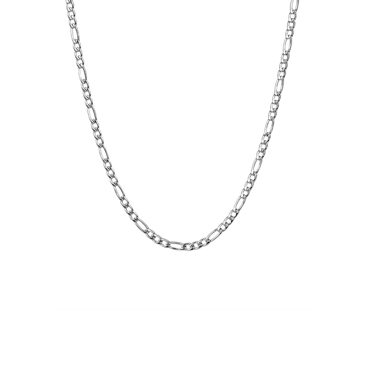 Silver Stainless Steel 3mm Figaro Polished Chain Chains
