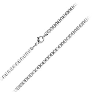 Silver Stainless Steel 3mm Venetian Box Link Chain Chains