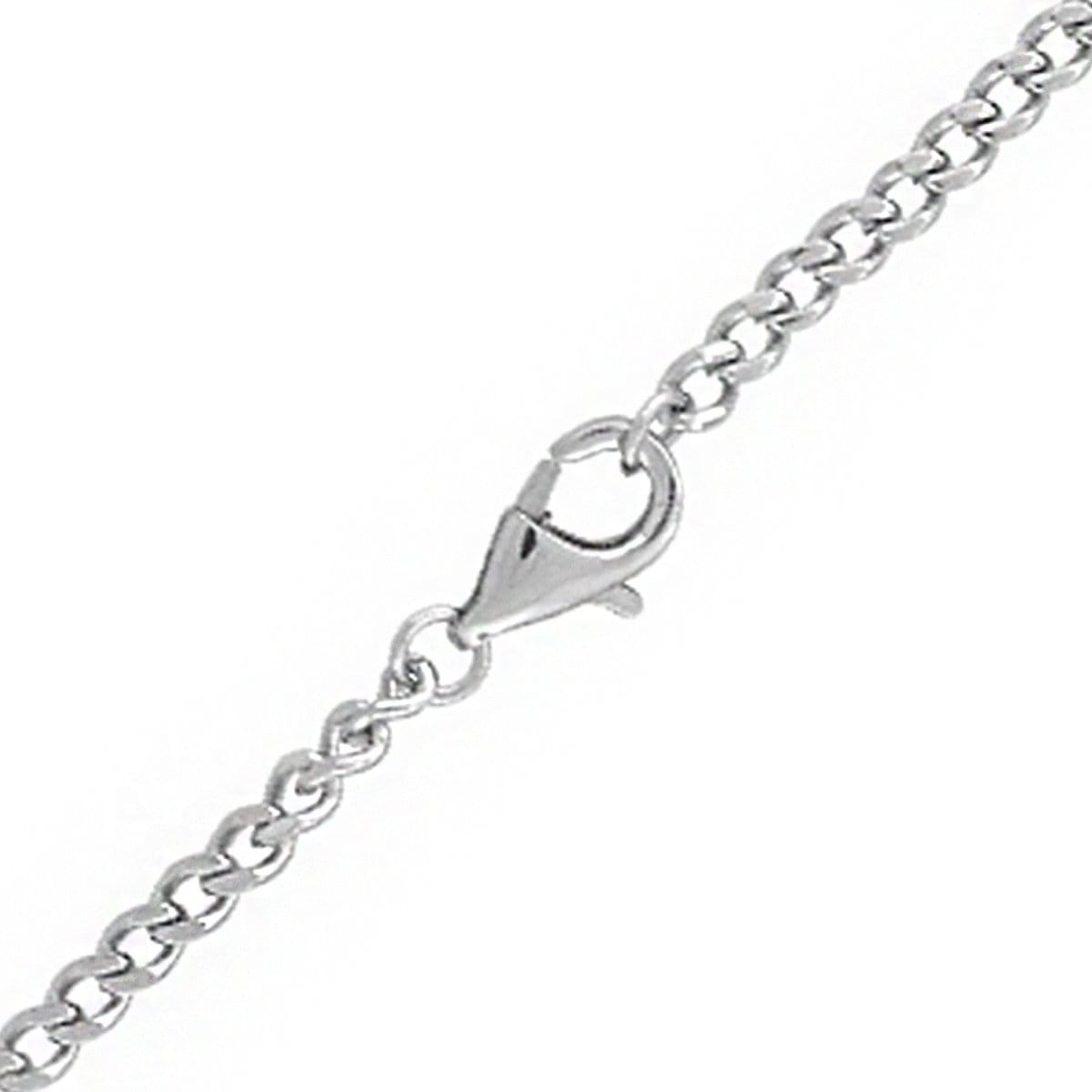 Silver Stainless Steel 4 mm Flat Curb Polished Chain