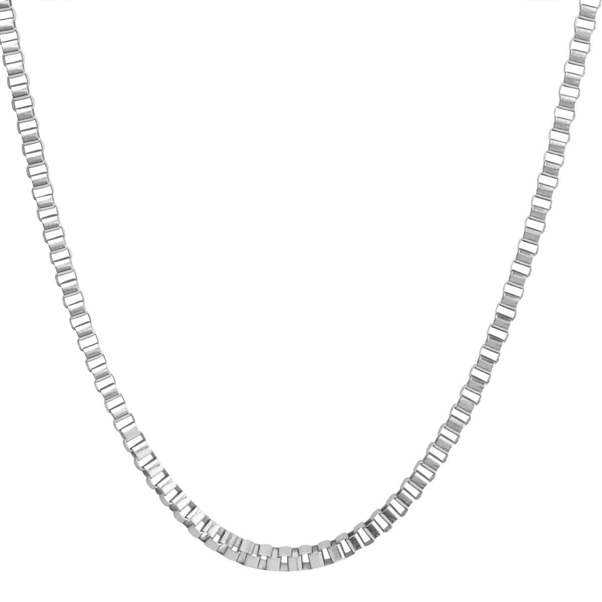 Silver Stainless Steel 4 mm Venetian Box Chain