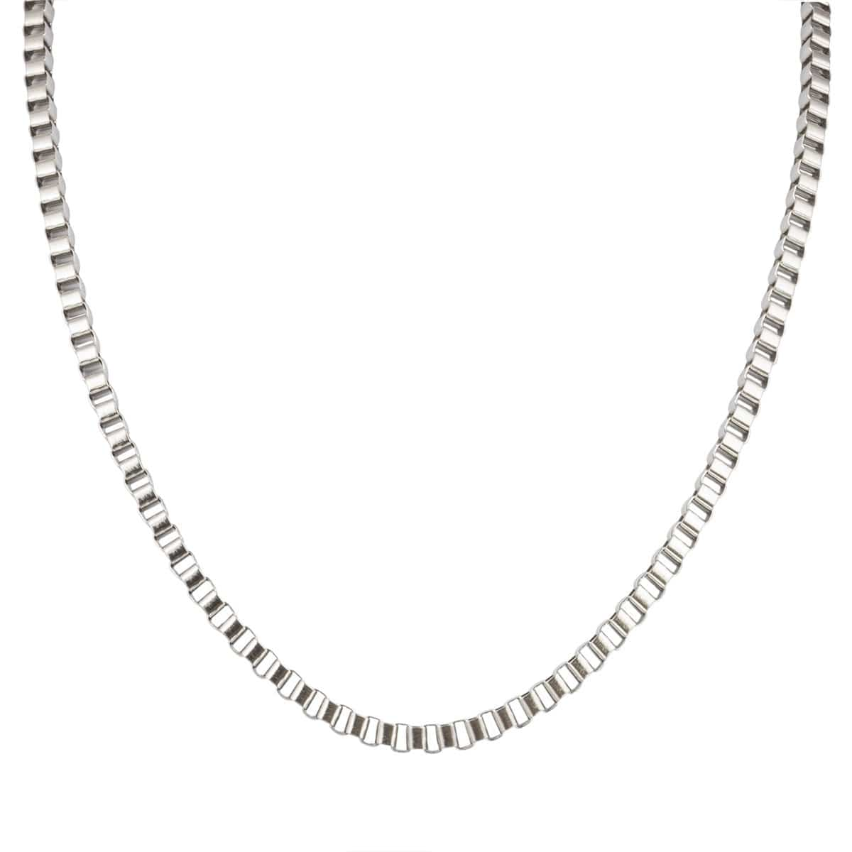 Silver Stainless Steel 4 mm Venetian Box Chain Chains