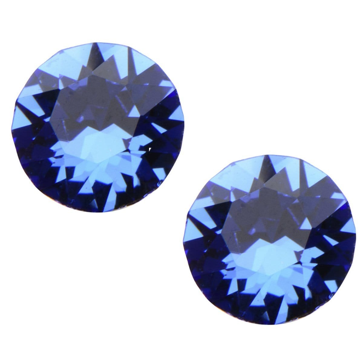 Silver Stainless Steel 5mm Blue CZ Safety Back Ear Stud