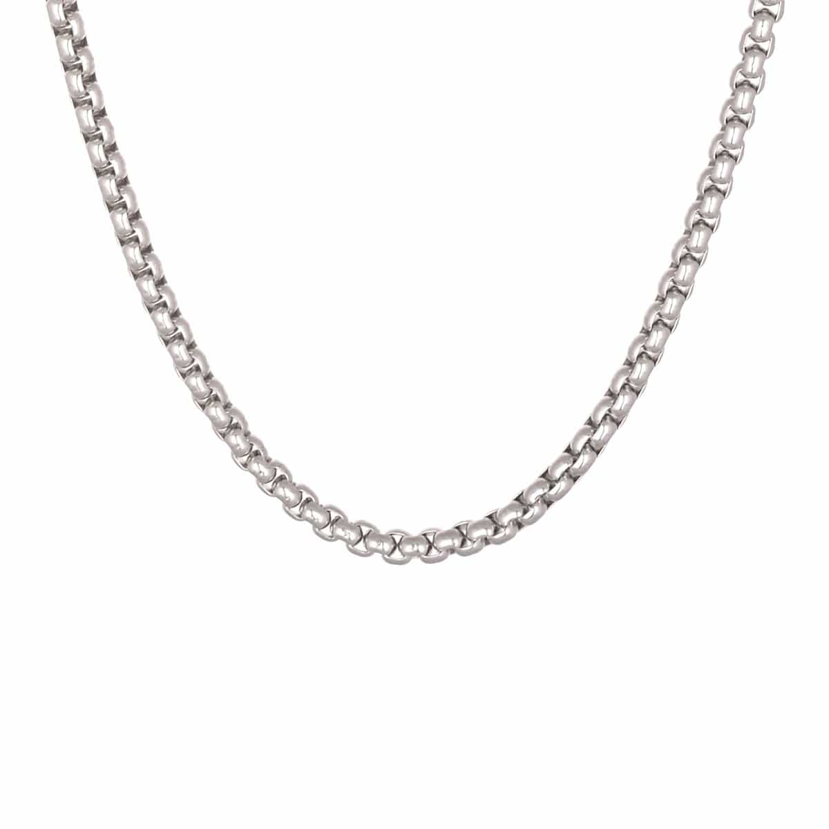 Silver Stainless Steel 5mm Polished Bold Box Link Chain Chains