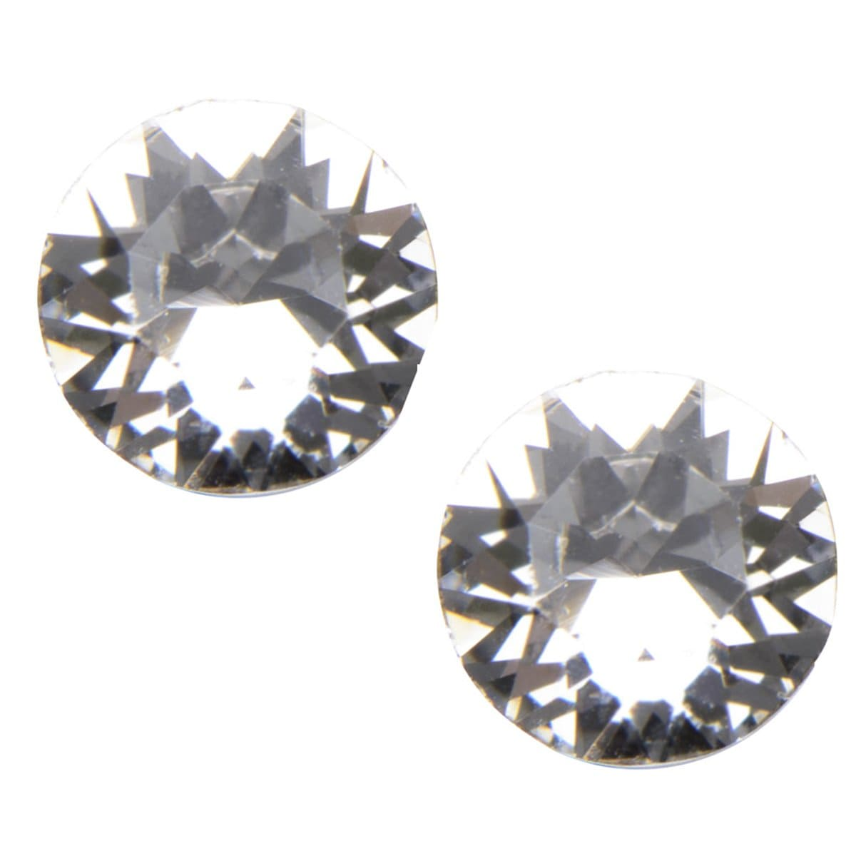 Silver Stainless Steel 5mm White CZ Safety Back Ear Stud