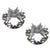 Silver Stainless Steel 5mm White CZ Safety Back Ear Stud Earrings