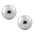 Silver Stainless Steel Ball Studs Earrings