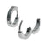 Silver Stainless Steel Classic 2mm Huggies Earrings