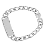 Silver Stainless Steel Engraveable ID Bracelet