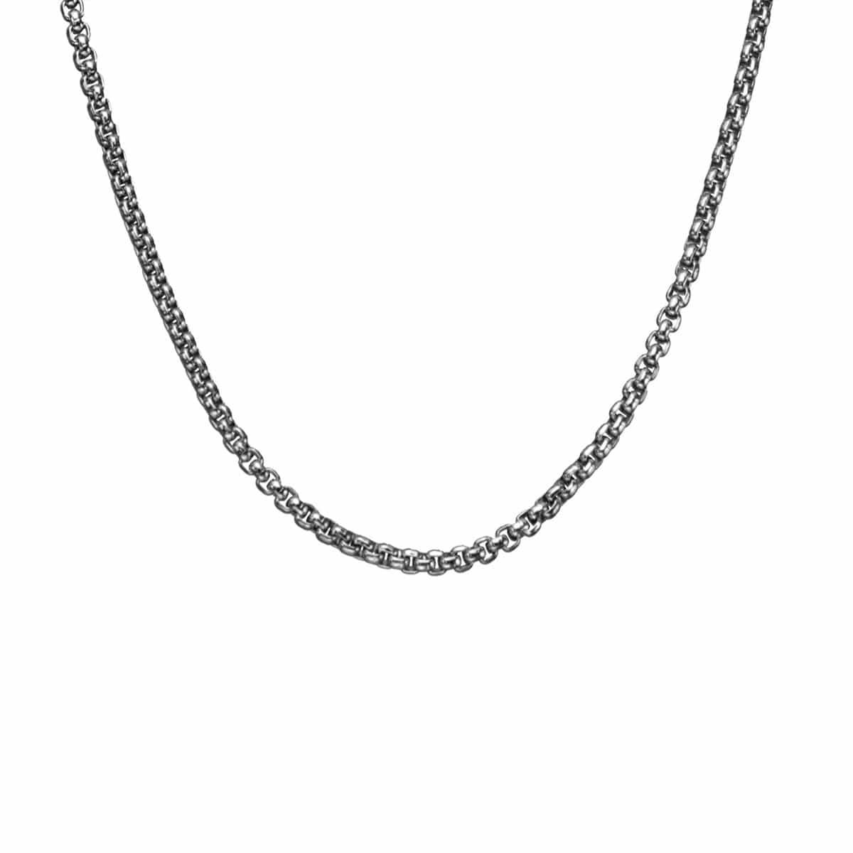 Silver Stainless Steel Large 4mm Polished Box Chain Chains