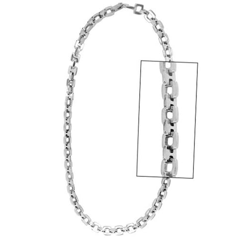 Silver Stainless Steel Open Square Link Chain Chains