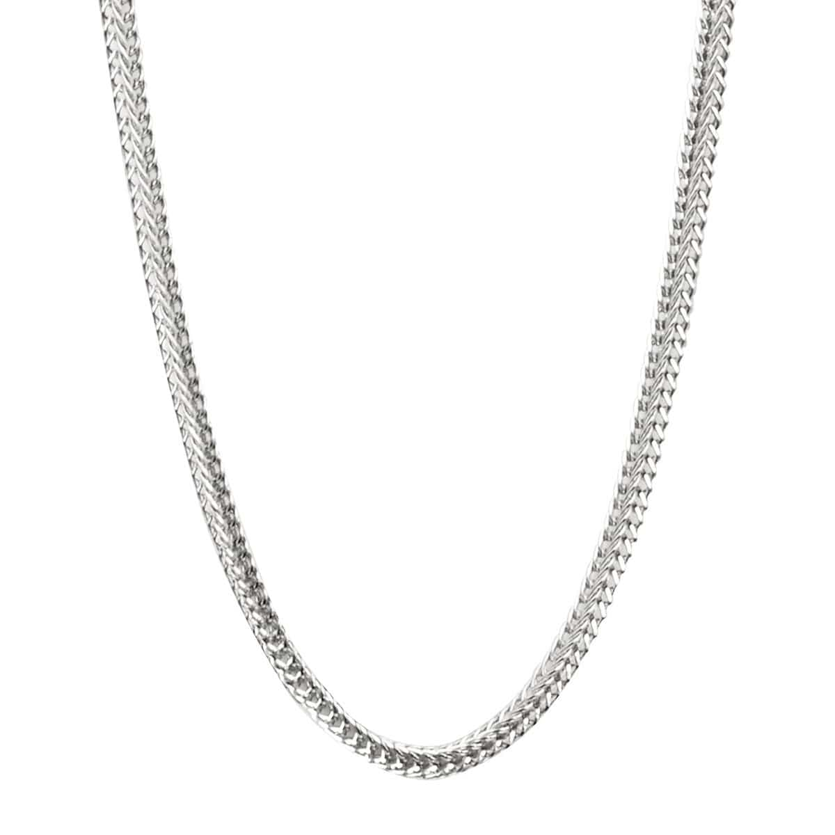 Silver Stainless Steel Polished 1mm Square Wheat Chain Chains