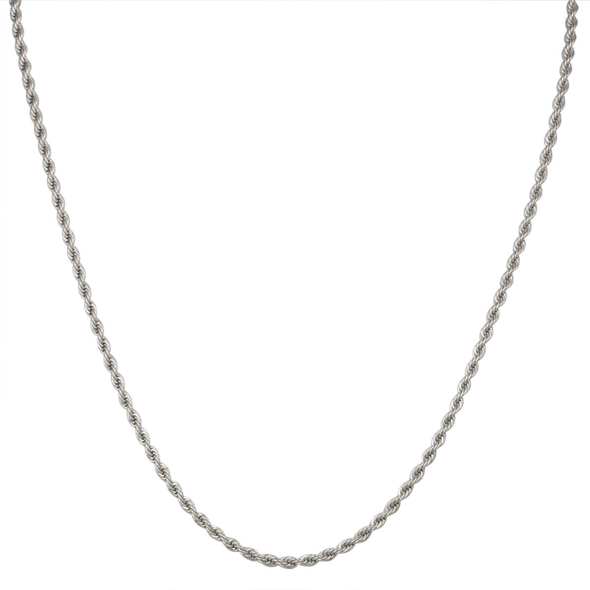 Silver Stainless Steel Polished 2 mm French Rope Chain Chains