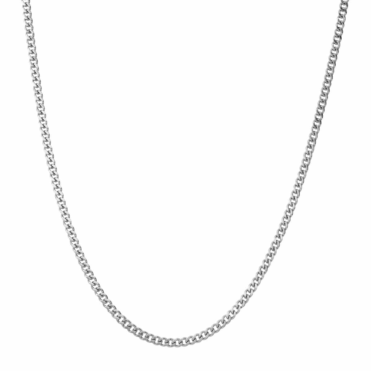Silver Stainless Steel Polished 2mm Flat Curb Chain Chains