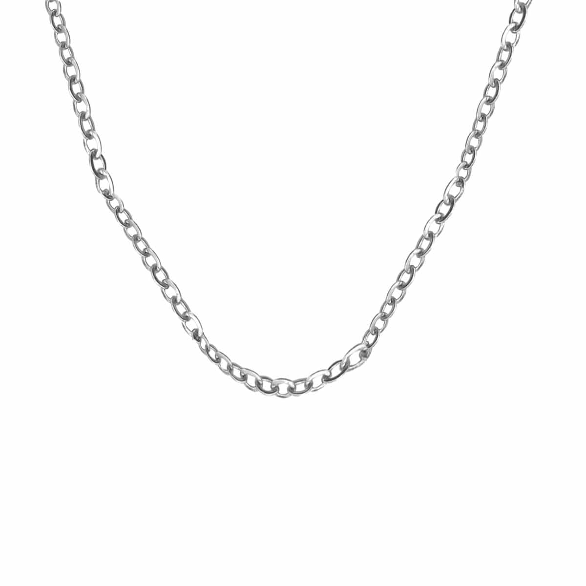 Silver Stainless Steel Polished 2mm Round Cable Chain