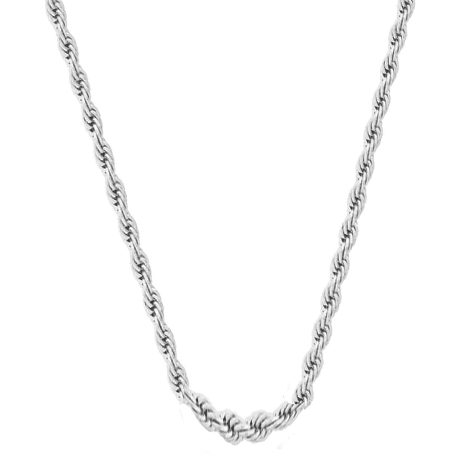 Silver Stainless Steel Polished 3.5 mm French Rope Chain Chains