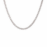 Silver Stainless Steel Polished 3.5 mm Round Wheat Chain