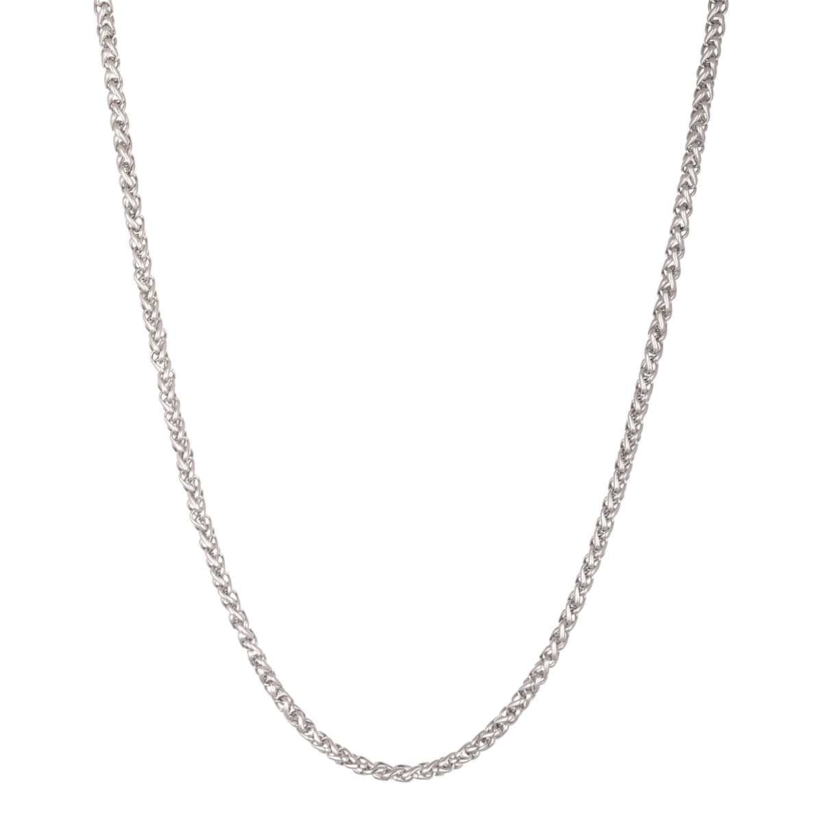Silver Stainless Steel Polished 3.5 mm Round Wheat Chain Chains