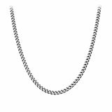 Silver Stainless Steel Polished 5mm Diamond Cut Design Chain