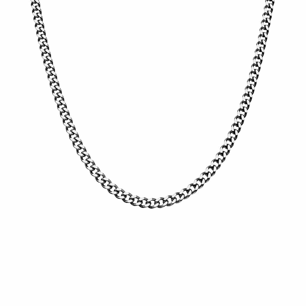 Silver Stainless Steel Polished 5mm Diamond Cut Design Chain Chains