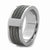 Silver Stainless Steel Ring with Three Inlaid Cables - Inox Jewelry India