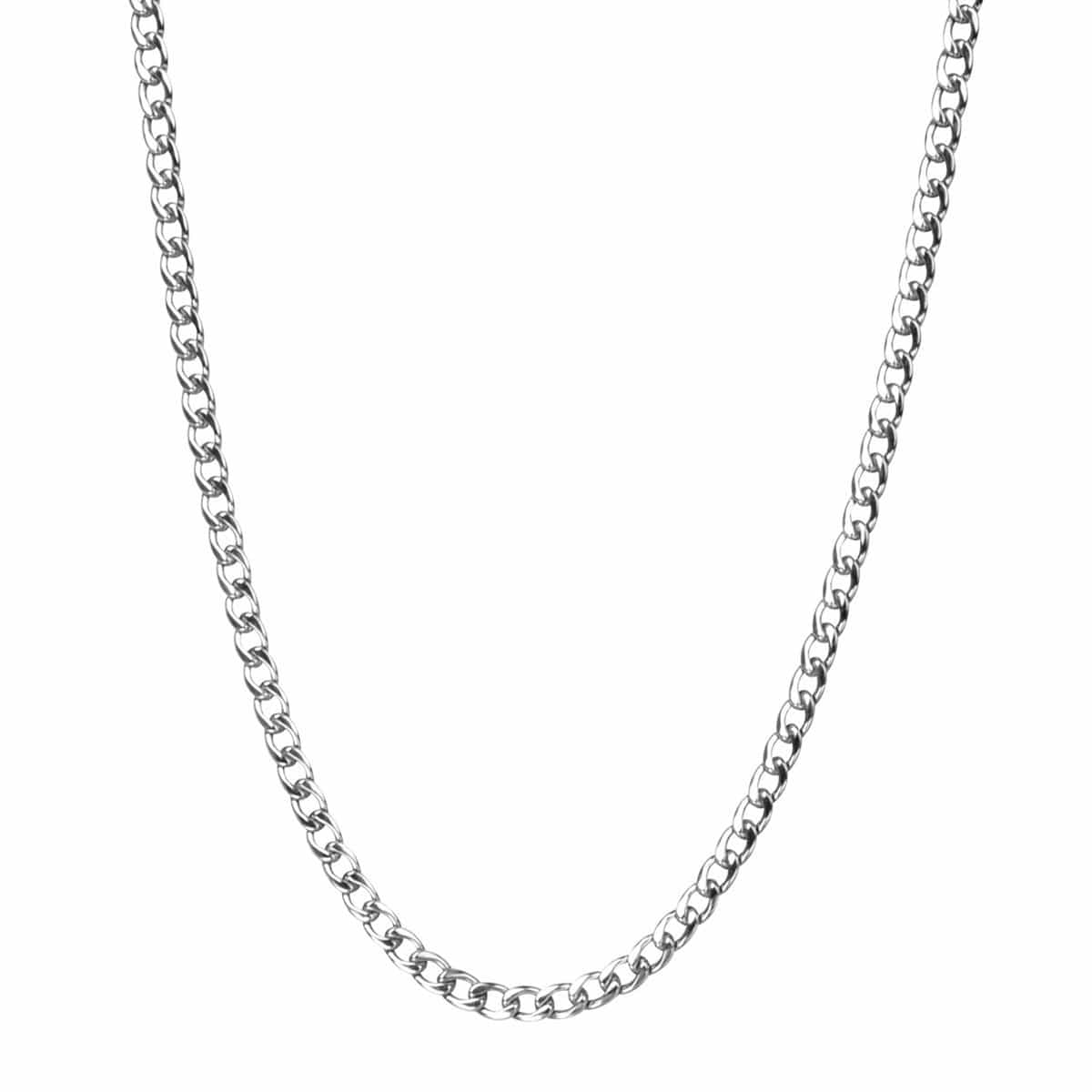 Silver Stainless Steel Small 4.8mm Round Curb Chain Chains